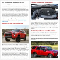 "Постинг статьи ""2016 Toyota 4Runner Redesign and new price"""