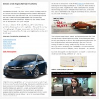 "Постинг статьи ""Stevens Creek Toyota Service in California"""