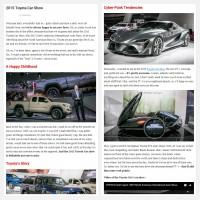 """Постинг статьи """"2015 Toyota Car Show"""""""