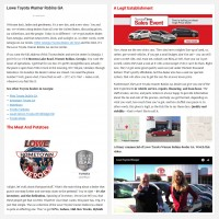 """Постинг статьи """"Lowe Toyota Warner Robins GA"""""""
