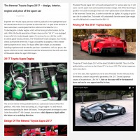 "Постинг статьи ""The Newest Toyota Supra 2017 – design, interior, engine and price of the sport car"""