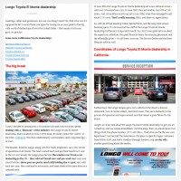 "Постинг статьи ""Longo Toyota El Monte dealership"""