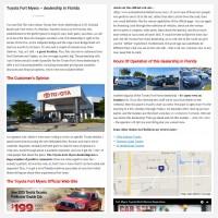 """Постинг статьи """"Toyota Fort Myers – dealership in Florida"""""""