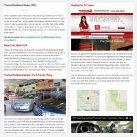 """Постинг статьи """"Toyota Rockland dealer (NY)"""""""