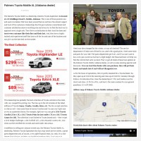 "Постинг статьи ""Palmers Toyota Mobile AL (Alabama dealer)"""