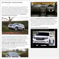 "Постинг статьи ""2016 Toyota Prado – the new Land Cruiser"""