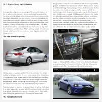 """Постинг статьи """"2015 Toyota Camry Hybrid Review"""""""