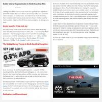 """Постинг статьи """"Bobby Murray Toyota Dealer in North Carolina (NC)"""""""