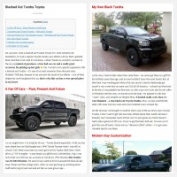 "Постинг статьи ""Blacked Out Tundra Toyota"""