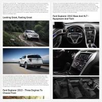 """Постинг статьи """"Ford Explorer 2015"""""""