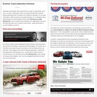 "Постинг статьи ""Bozeman Toyota dealership in Montana"""