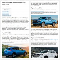 "Постинг статьи ""Toyota 2016 models – the Japanese giant in the nearest future"""
