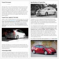 """Постинг статьи """"Toyota Prius specs"""""""