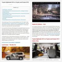 """Постинг статьи """"Toyota Highlander 2015 vs Toyota Land Cruiser 2015"""""""
