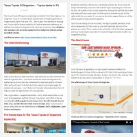 "Постинг статьи ""Texas Toyota Of Grapevine – Toyota dealer in TX"""