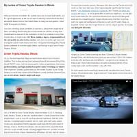 """Постинг статьи """"My review of Crown Toyota Decatur in Illinois"""""""