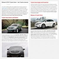 """Постинг статьи """"Release of 2016 Toyota Venza – new Toyota crossover"""""""
