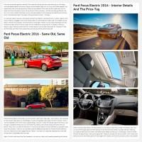 """Постинг статьи """"Ford Focus Electric 2016"""""""