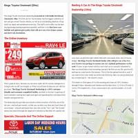 """Постинг статьи """"Kings Toyota Cincinnati (Ohio)"""""""