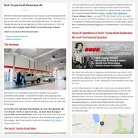 """Постинг статьи """"Boch Toyota South Dealership MA"""""""