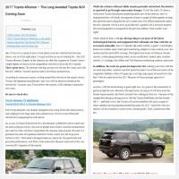 "Постинг статьи ""2017 Toyota 4Runner – The Long-Awaited Toyota SUV Coming Soon"""