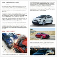 "Постинг статьи ""Toyota – The Safest Brand In History"""