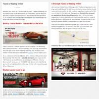"""Постинг статьи """"Toyota of Bastrop review"""""""