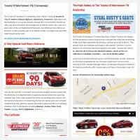 "Постинг статьи ""Toyota Of Morristown TN (Tennessee)"""