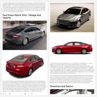 "Постинг статьи ""Ford Fusion Hybrid 2016"""