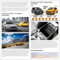 """Постинг статьи """"Ford Focus ST 2016"""""""