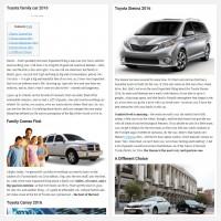 """Постинг статьи """"Toyota family car 2016"""""""