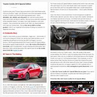 """Постинг статьи """"Toyota Corolla 2015 Special Edition"""""""