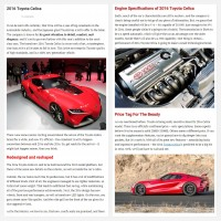 "Постинг статьи ""2016 Toyota Celica"""