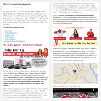 """Постинг статьи """"Pitts Toyota Dublin GA dealership"""""""