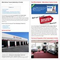 """Постинг статьи """"Mike Erdman Toyota (dealership in Florida)"""""""
