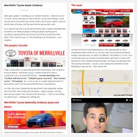 "Постинг статьи ""Merrillville Toyota dealer (Indiana)"""