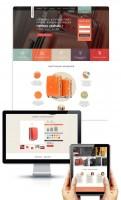 Дизайн лендинга по продаже чемоданов
