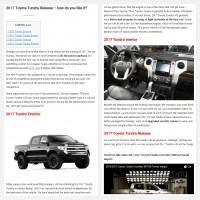 "Постинг статьи ""2017 Toyota Tundra Release – how do you like it?"""