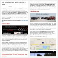"Постинг статьи ""Pauly Toyota Crystal Lake – good Toyota dealer in Illinois"""