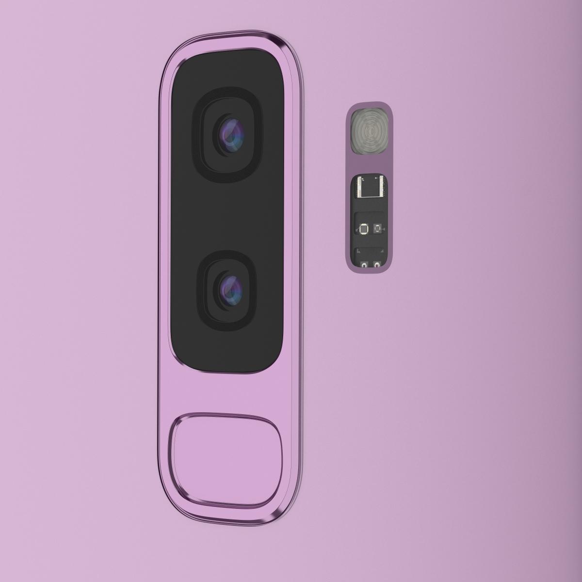galaxy s9+ Lilac Purple detailing