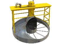 3D иллюстрация схемы обследования нефтяного ререзвуара Kazzan в ОАЭ