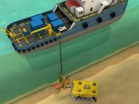 3D иллюстрация схемы обследования нефтепровода в индии