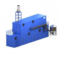 3D модель установки высокотемпературного пиролиза на базе блок-контейнера