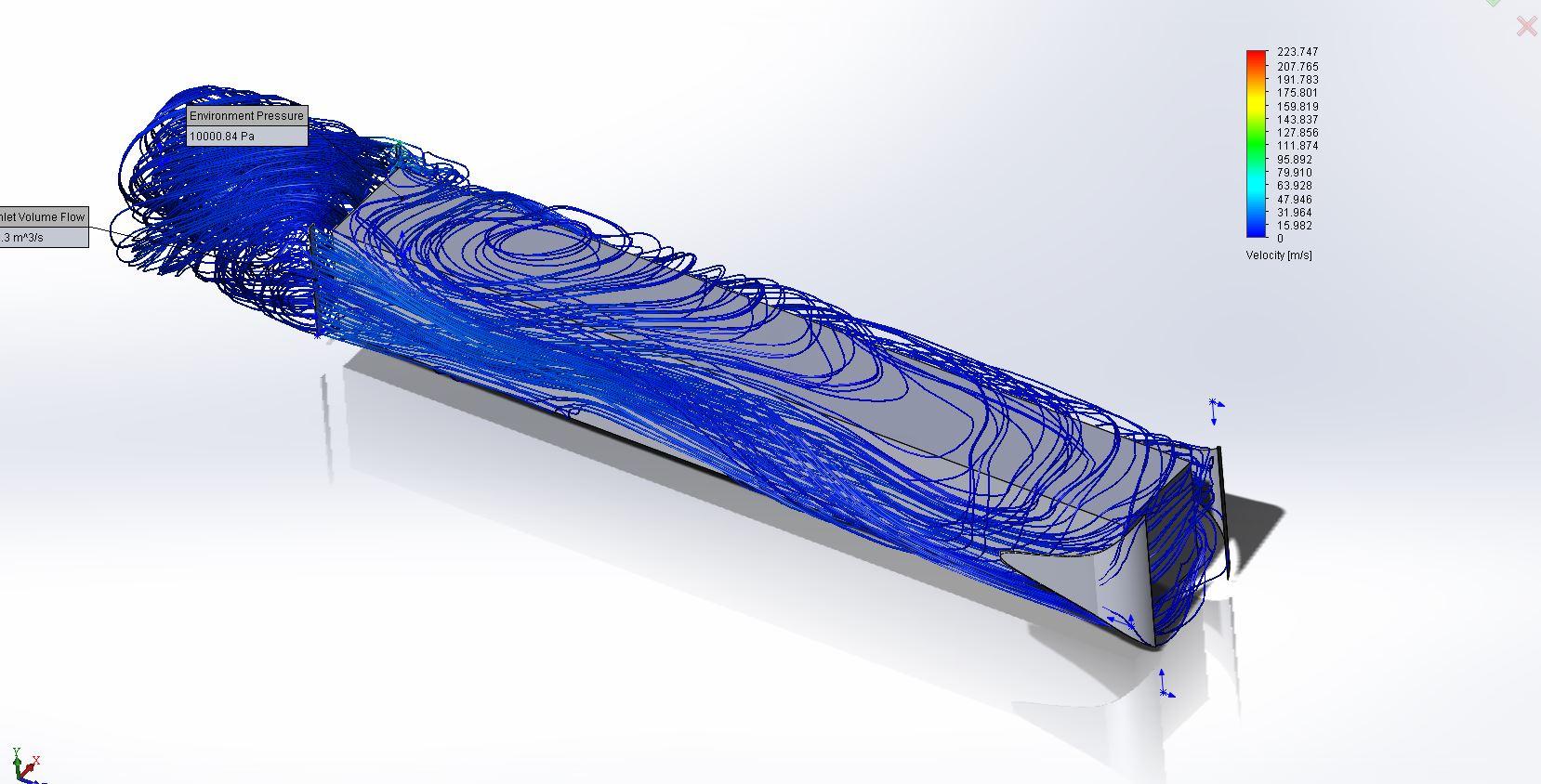 Исследование движения воздушных потоков в спроектированной печи