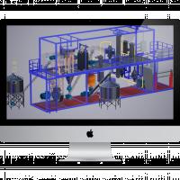Интерактивная 3d модель мини-завода