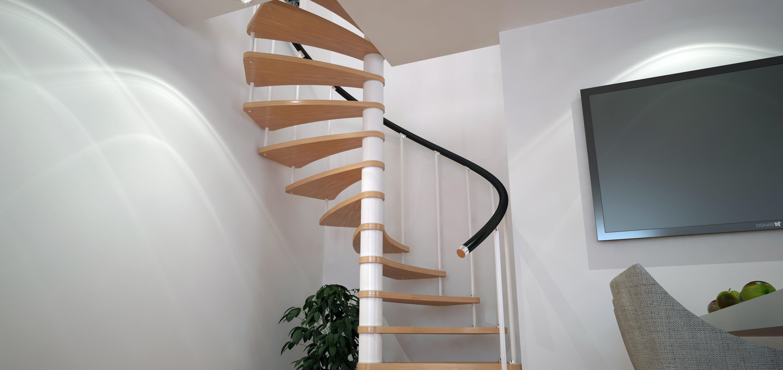 Винтовая лестница в интерьере 4