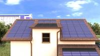 Солнечные батареи в виде черепицы на частном доме (иллюстрации для буклета)