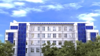Солнечные панели на офисном здании (иллюстрации для буклета)