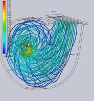 Исследование движения воздушных потоков в корпусе радиального вентилятора
