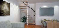 Винтовая лестница в интерьере 9